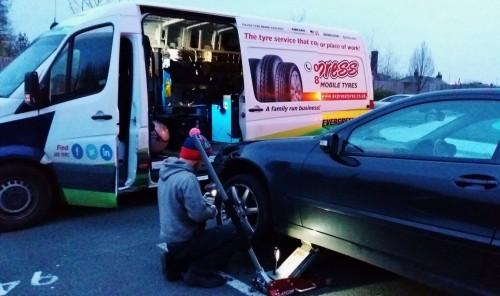 Mobile Tyre fitting in Warrington